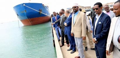 Somalia and Italy sign agreement to remove wrecked ship near the quay in Kismayo port