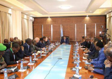 President Farmajo briefs AU delegation over security and economic integration