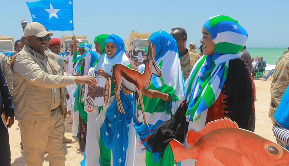 Puntland leader launches construction of Gara'd port