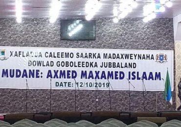 UPDATE: Qaban-qaabadii ugu dambeysay Xafladda Caleema saarka Axmed Madoobe oo ka socota Kismaayo