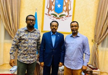 NUSOJ raises anti-media legislation concerns in meeting with Somali President +(PHOTOS)